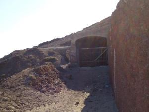 Entrada bunker de Arinaga