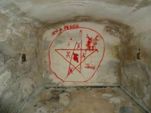 Símbolos de ritos en bunker de Arinaga
