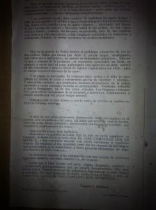Documento encontrado en la Cueva de Los Artiles