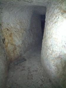 Enlace entre la cueva principal y la primera aula.